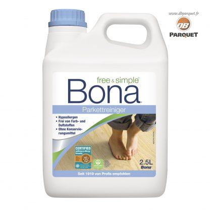 Free & Simple Nettoyant Hypoallergénique de Bona Bidon de 2,5 Litres pour recharger la cartouche du balai Spray mop