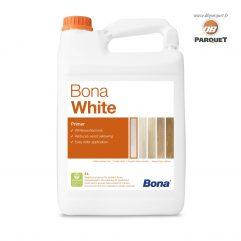 Bidon de primaire Bona White en 5 Litres, aspect blanc délavé.